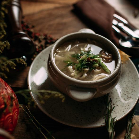 Дотур-домашний суп-лапша из бараньих внутренностей