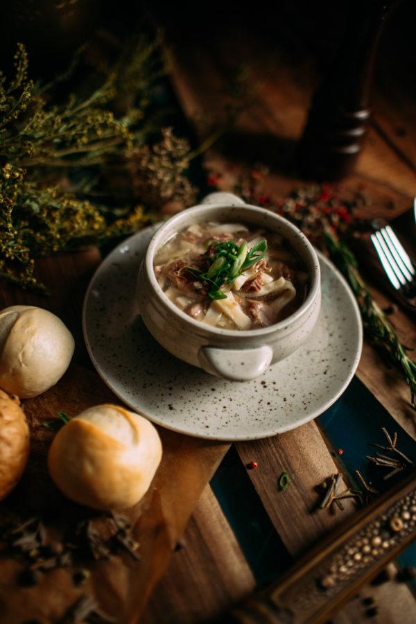Домашний суп-лапша из баранины