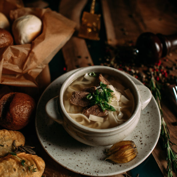 Домашний суп-лапша с говядиной